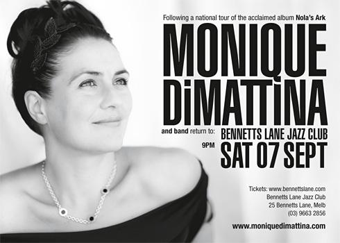 Monique Di Mattina Bennetts Lane Jazz Club